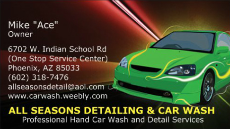 All Seasons Detailing & Hand Car Wash - Home